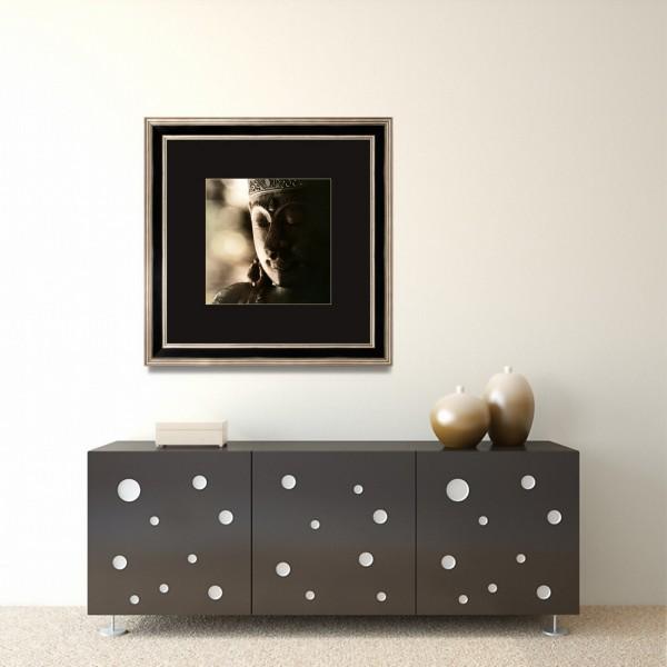 Interior with modern dresser near empty beige wall. 3d render.