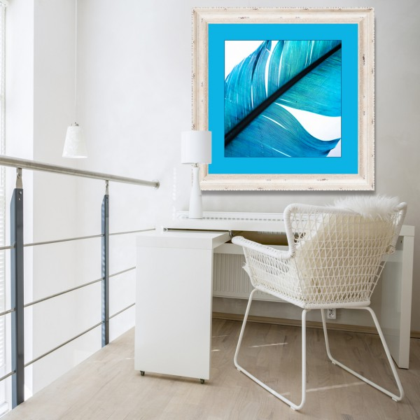 Working area in modern apartment
